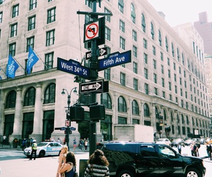 34th street, Dream, and fifth avenue image