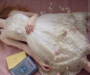 fashion, flowers, and books image
