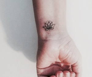 flower, Tattoos, and tumblr image