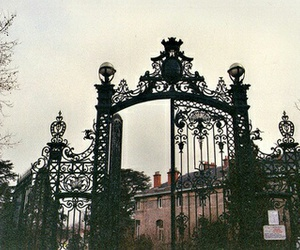 vintage, gate, and place image