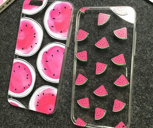 cases, pink, and watermelon image