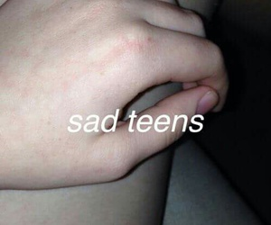 sad, teens, and sadteens image