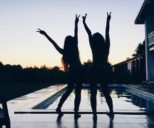 besties, goals, and sunset image