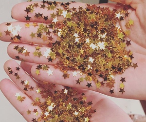 stars, gold, and aesthetic image
