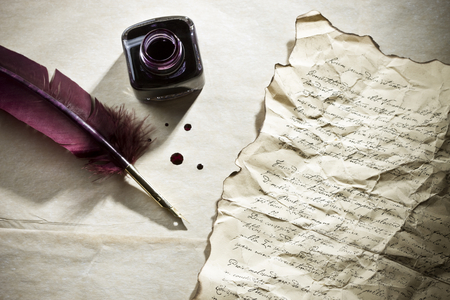 ink, Letter, and parchment image