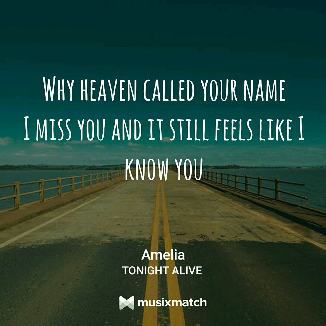 letras, amelia, and tonight alive image