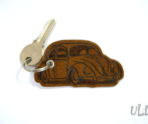 etsy, leather, and volkswagen beetle image