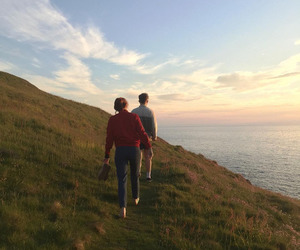 couple, sky, and nature image