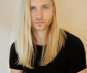 guy and long hair image