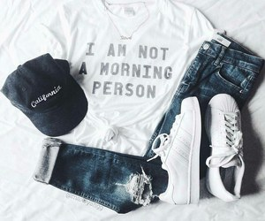 outfit, clothes, and cap image