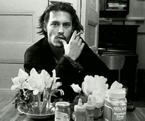 awesome, johnny depp, and black & white image
