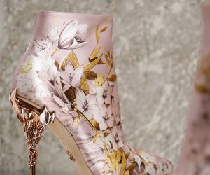fashion, shoes, and flowers image