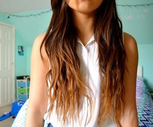 curly hair, hair, and tumblr girl image