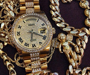 chains, diamond, and gold image