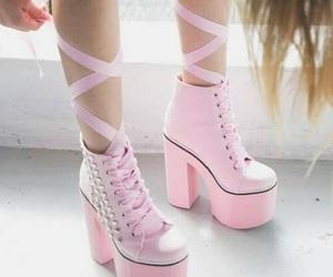 pink, shoes, and pastel image