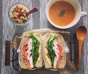 lunch, sandwiches, and 萌え断 image