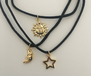 choker, moon, and necklace image