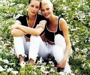 Christy Turlington and linda evangelista image