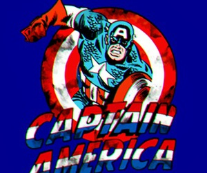 blue, captain america, and Marvel image