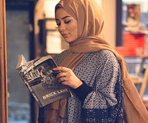 book, hijab, and muslim image
