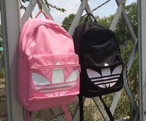 adidas, pink, and black image