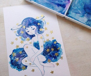 art, cute, and stars image