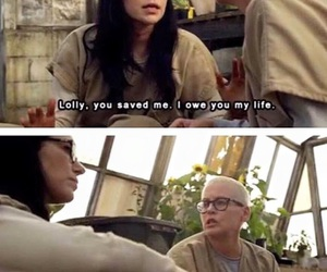 funny, oitnb, and quotes image