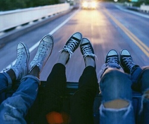 bff, convers, and girls image