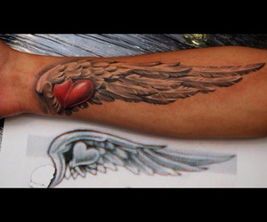 heart and wing tattoo image