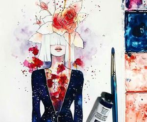 art, ️sia, and flowers image