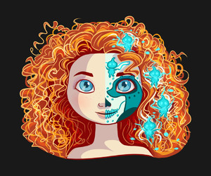 disney, princess, and merida image