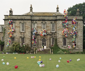 balloons, mansion, and house image