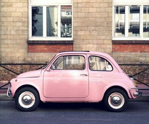 car, pink, and color image