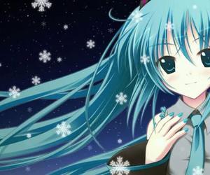 blue, cute anime, and anime girls image