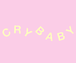 cry baby, header, and pink image