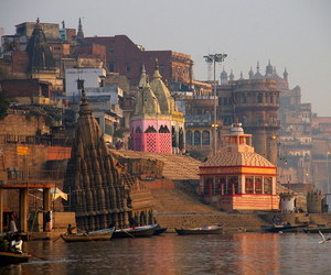boats, city, and india image