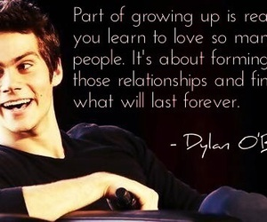 teen wolf, dylan o'brien, and quote image