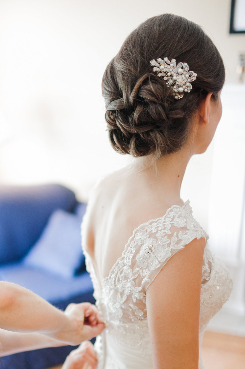 Cadence Crystal And Pearl Bridal Hair Comb Vintage Style Wedding