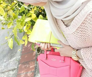 hijab, bag, and school image
