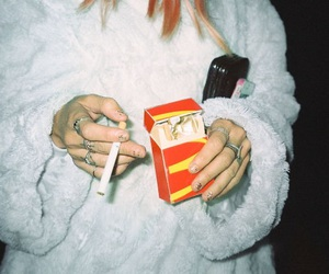 grunge, pale, and cigarette image
