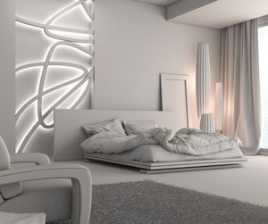 home, bed, and decoration image