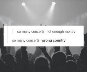 concert and money image