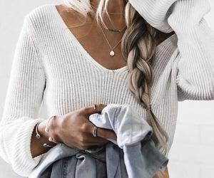 fashion, girl, and braid image