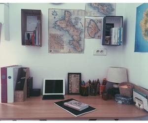 desk, organisation, and school image