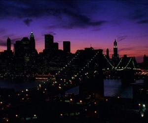 city, new york, and sunset image