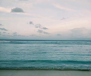 beach, relax, and sea image