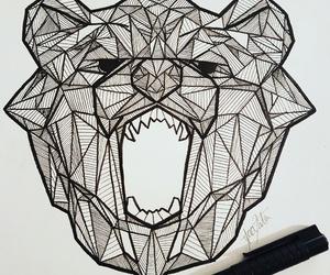 art, bear, and draw image