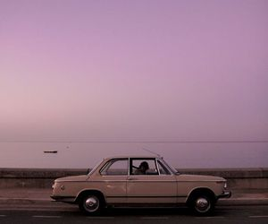car, sky, and purple image