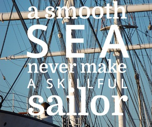 quote, sailor, and sea image