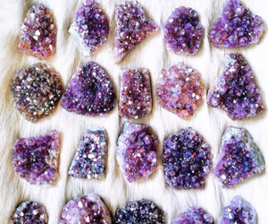 crystal, purple, and stone image